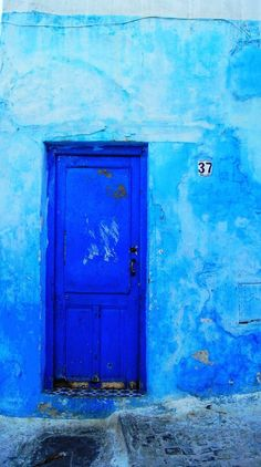 blue soul. brightly colored door