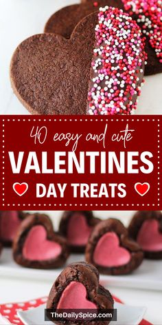 Spoil your loved ones with some of these yummy Valentines Day Treats this year! Bite Size Desserts, Easy Desserts, Dessert Recipes, Valentine Day Cupcakes, Valentines Day Desserts, Holiday Recipes, Holiday Themes, Holiday Foods, Sweet Treats