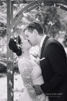 First kiss! Wedding Portraits at The Orchard Luxury B&B, Red Hill South, Mornington Peninsula. Melbourne Wedding Photography.