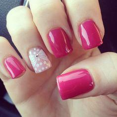 cute bow nail