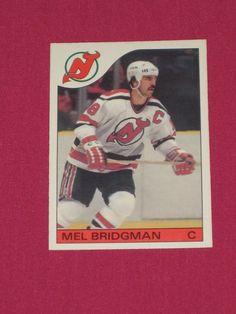 1985-86 #42 Mel Bridgman, O-Pee-Chee OPC New Jersey Devils, NHL Hockey Card   eBay