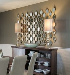 Interior Idea Framed Mirrors for Modern Rooms Interiorforlife.com Cool mirror design. Too bad I dont have a wall to do this on you would need a big empty space.
