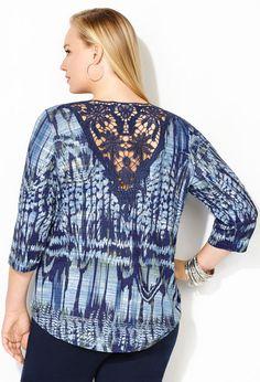 Embellished Crochet Back Hatchi Top