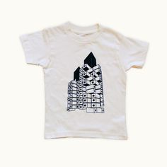 Mini Capsule Tower toddler t-shirt by Tiny Modernism