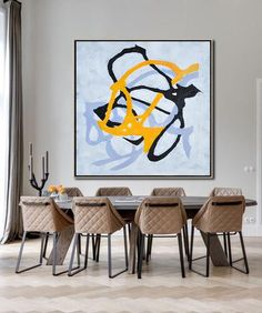 Minimal Art from CZ Art Design, Black White blue violet acrylic painting on canvas, great choice for a minimal home or neutral interiors Minimalist Painting, Minimalist Art, Geometric Painting, Abstract Art, Acrylic Painting Canvas, Painting & Drawing, Deco, Modern Art, Original Paintings