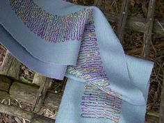 Toronto Weaving School: Theo Moorman and other techniques Weaving Textiles, Weaving Art, Weaving Patterns, Lace Patterns, Loom Weaving, Textile Fiber Art, Fibre Art, Hand Work Embroidery, Ribbon Yarn
