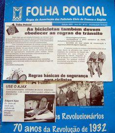 SÓ PARA LEMBRAR - Revista Folha Policial, publica pagina inteira com dicas do Edgard Ájax, sobre bikes no trânsito - #bikesnotrânsito - dicasno trânsito - www.ajax-noticias.blogspot.com