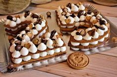 Desserts Printemps, Birthday Countdown, Beautiful Birthday Cakes, Cake Chocolat, Biscuit Cake, Number Cakes, Cake & Co, Biscuits, Index
