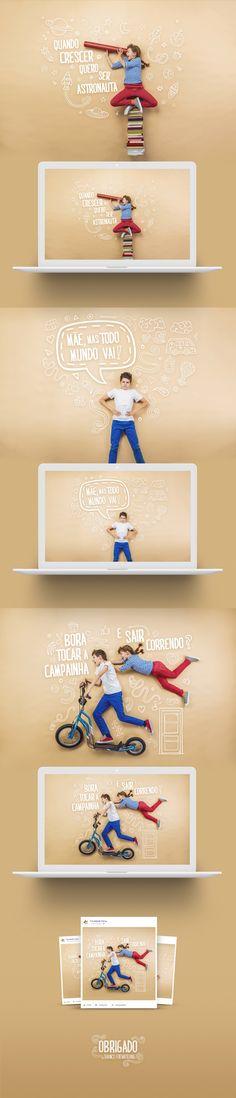 Conceito de Campanha do Dia das Crianças veiculada no Facebook Ads Creative, Creative Advertising, Creative Design, Creative Ideas, Graphic Design Posters, Graphic Design Inspiration, Web Design, Magazine Layout Design, Poster Layout