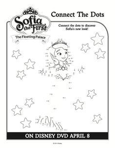 Sofia the First Printable Connect the Dots Coloring Page