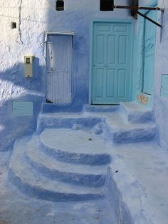 A very typical image in Chefchaouen, Morocco. photo by Spencer James
