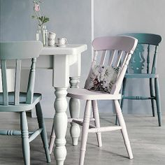 Farmhouse table and chairs offer - save up to 150 Farmhouse Table, Dining Room Furniture, Painted Wooden Chairs, Furniture, Dining Chairs, Dining Table Chairs, Home Decor, House Interior, Kitchen Chairs