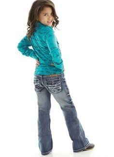Cowgirl Tuff Girls Saddle Ready Jeans