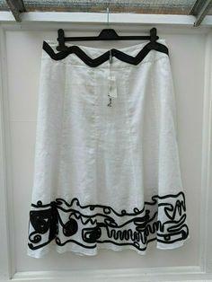 Linen Trousers, Linen Blazer, Black Linen, Striped Linen, Skirts For Sale, Long Maxi Skirts, Black Ribbon, Size 16 Dresses, White Skirts