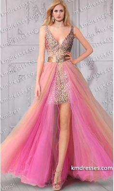 Aurora Inspired Amazing Dazzling Beaded Tulle Overlay  high low evening gown.prom dresses,formal dresses,ball gown,homecoming dresses,party dress,evening dresses,sequin dresses,cocktail dresses,graduation dresses,formal gowns,prom gown,evening gown.