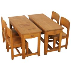 Very Rare Pre-War (1930) Child's Desk and chairs by Dox Lier   From a unique collection of antique and modern children's furniture at http://www.1stdibs.com/furniture/more-furniture-collectibles/childrens-furniture/