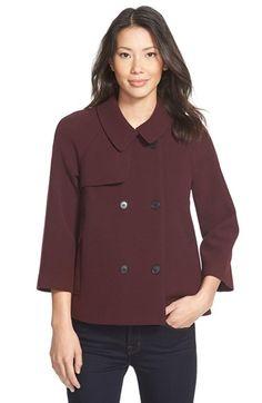 Halogen® Double Breasted Raglan Sleeve Jacket (Regular & Petite)   Nordstrom