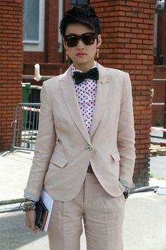 Ester Quek. Men's fashion on women