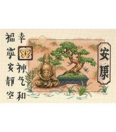 Dimensions Counted Cross Stitch Kit Bonsai And Buddha