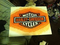 Harley Davidson canvas painting