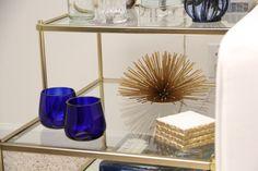 Home Decor Accents - CB2 Cobalt Blue Votives, Target gold Starburst   Redefining Domestics