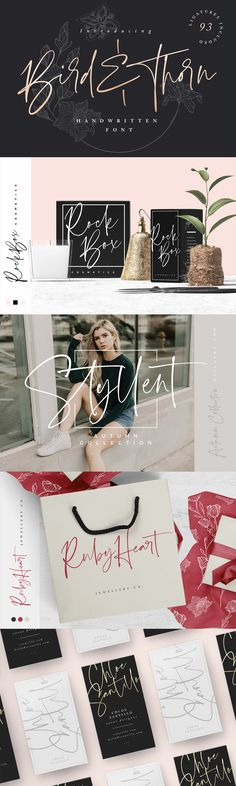 Bird And Thorn - Introducing Bird & Thorn; A free-flowing, expressive script font with a stylish quality. Handwriting Styles, Handwriting Fonts, Script Fonts, Typography Fonts, Web Design, Design Studio, Grafik Design, Hand Drawn, Flow