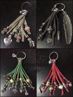 bag charms key charms pelle scamosciata
