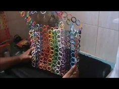 Como fazer Bolsas com Tampinhas de Pet (Parte 1). - YouTube