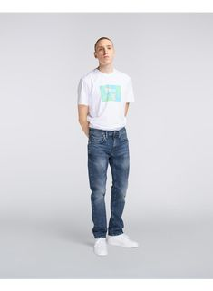 The is the most popular style, a regular tapered fit with a mid-rise. Made from CS Yuuki Blue Denim. Item Number, Stretch Denim, Blue Denim, Normcore, Popular, Fitness, Cotton, Pants, Style
