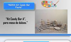 Kit Candy Bar A Para Mesa De Dulces Cupcakes Mdf Para Fiesta - $ 1,000.00