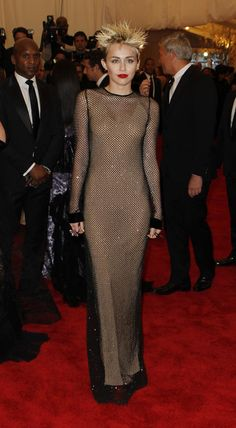 Miley Cyrus in Marc Jacobs at the 2013 Met Gala.