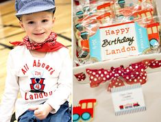 Different Train ideas for birthday parties (page is full of them)