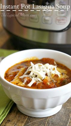 OH MY this Instant Pot lasagna soup is amazing!! You can make it in the slow cooker too but this is done in just 45 minutes, and healthy too!