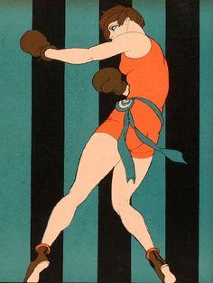 """female boxer -Women of the Future (1925),Ernesto """"El Chango"""" García Cabral docarelle"""