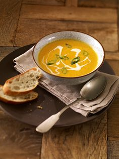 Eine würzige Suppe mit Möhren und Ingwer
