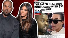 Kim & Kanye – Threatening to Sue Ex-Bodyguard!