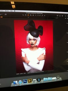Pop art photo shoot. New designs from Marie Halewood millinery