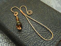 Metall - Handgearb. Lesezeichen für Ladies !Lampwork! - ein Designerstück von Feuerperlen-und-Co bei DaWanda