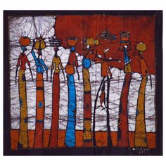 @Overstock.com - Hand-batiked 'Long Way Home' Wall Hanging (Mozambique) - This colorful, unframed wax batik from Mozambique makes a wonderful piece of African wall art and a great conversation piece. The batik is signed by the artist Mandlate. http://www.overstock.com/Worldstock-Fair-Trade/Hand-batiked-Long-Way-Home-Wall-Hanging-Mozambique/8398587/product.html?CID=214117 $84.59