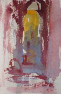 Kristan Baggaley. Painted in Rome, the night of October 18th. Study of a doorway…