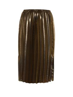 Isabel Marant Étoile champions an essential new-season style with this pleated mid-length Malden skirt. It's crafted from glimmering gold lamé, and detailed with a split along one side. Wear it to parties with a black cami, then style it for day with a roll-neck sweater.