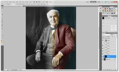 How To Colorize Black and White Vintage Photographs in Photoshop http://www.howtogeek.com/howto/42066/how-to-colorize-black-and-white-vintage-photographs-in-photoshop/