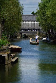 時空トラベラー  The Time Traveler's Photo Essay : 水郷柳川に川下りを楽しむ 〜梅雨の晴れ間の猛暑にもめげず〜