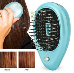 Clean hair scalp, strengthen hair roots and help hair grow smoothly. Promotes blood circulation of the scalp layer, relieves the pressure on the head. Round Comb Teeth Design: effectively solve the problem of hair knot and massage the scalp. Help Hair Grow, How To Make Hair, Dry Scalp Remedy, Ionic Hair Brush, Styling Brush, Styling Comb, Frizz Free Hair, Tangled Hair, Circulation Sanguine