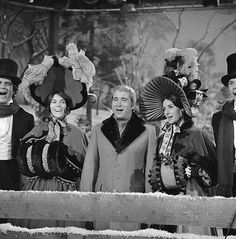 Rich Little Karen Carpenter Perry Como Peggy Fleming and Richard Carpenter on 'The Perry Como Christmas Show' Image dated December 17 1974
