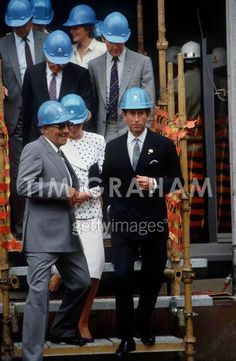 1985-11-07 Prince Charles and Princess Diana visit the construction site of the new Parliament House in Canberra
