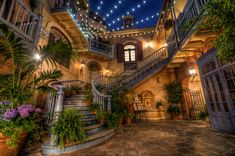 Court of Angels, New Orleans Square Shops, Disneyland. Been there over Christmas one year, didn't even know it had a name of it's own!