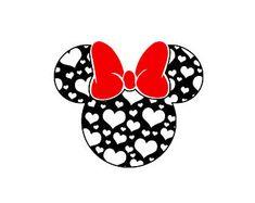 Valentine svg, hearts disney svg, minnie svg and silhouette digital instant Disney Crafts, Disney Fun, Disney Valentines, Silhouette Cameo Projects, Silhouette Studio, Disney Designs, Mickey Minnie Mouse, Cricut Creations, Disney Wallpaper
