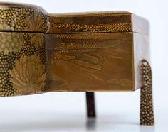 19th Century Japanese Gold Laquer Kobako at 1stdibs