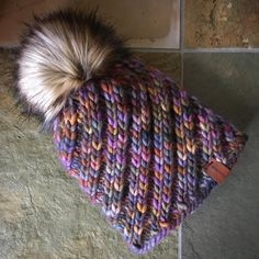 The Spiral Flow Beanie by Cathryn Johnson, knitted by @hooked435 | malabrigo Rasta